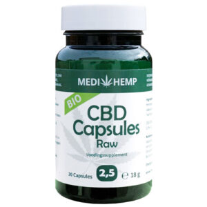 12.5MG CBD Capsules Raw Bio 2.5% MEDIHEMP 30caps