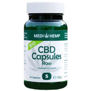 25MG CBD Capsules Raw Bio 5% MEDIHEMP 30caps