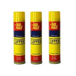 12 x CLIPPER 300ml Butane Gas with Adapter Cap