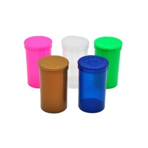 225 x 19 Dram Pop Top Storage Bottles – Mixed Colours