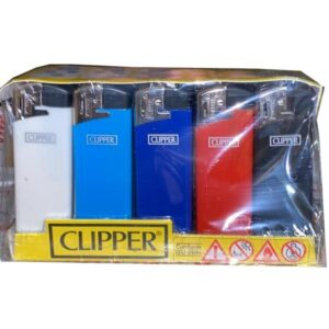 25 Clipper Flat Fit Translucent Electronic Lighters – TK21R