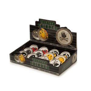 2 Parts Mini Emoji Metal Silver Grinder – HX002-1