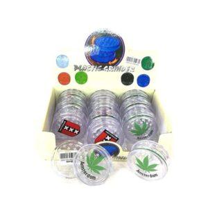 12 x 2 Parts 4Smoke Plastic Grinder – HX033A