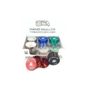 12 x 50mm 3 Parts Amsterdam Handmuller Metal Grinder – DK 4881-3