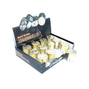 12 x 3 Parts Handmuller Silver Gold Bullet Metal 40mm Grinder – HX240G