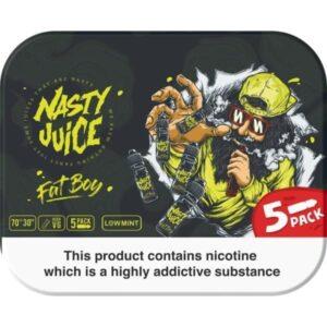 Nasty Juice 3mg 5x10ml Multipack (70VG/30PG)