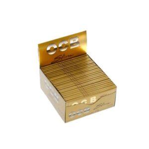 50 OCB Premium King Size Slim Gold Papers