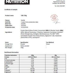 Applied Nutrition Pro CBD Protein & Hemp Powder – Vanilla
