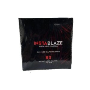 Insta Blaze Quick Light Charcoal For Shisha Hookah – (80 Pieces)
