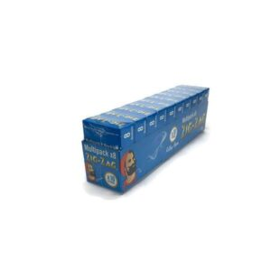 10 Pack x 8 Booklet Zig-Zag Blue Regular Rolling Papers