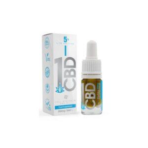 1CBD 5% Pure Hemp 250mg CBD Oil Lite Edition 5ml