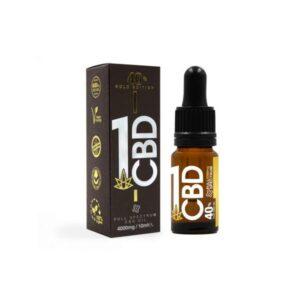 1CBD 40% Pure Hemp 4000mg CBD Oil Gold Edition 10ml