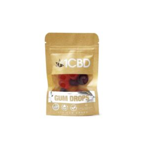 1CBD Pure Hemp CBD fruit flavoured Gum Drops 100mg CBD
