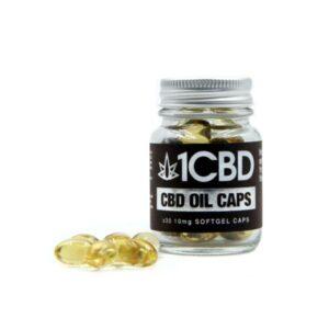 1CBD Soft Gel Capsules 10mg CBD 30 Capsules