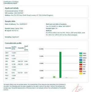 XYLEM Organic CBD Spray 1000MG 10ml