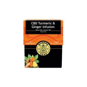 Buddha Teas CBD Turmeric Ginger Tea Bags 5mg