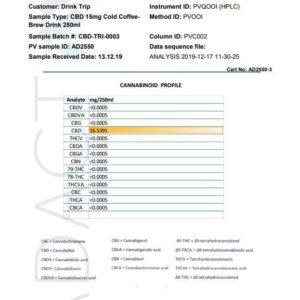24 x TRIP 15mg CBD Infused Cold Brew Coffee Drink 250ml