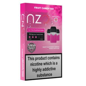 NZO 10mg Pukka Juice Salt Cartridges with Red Liquids Nic Salt (50VG/50PG)