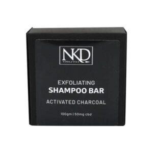 NKD 50mg CBD Activated Charcoal Shampoo Bar 100g
