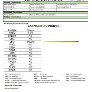CBD Asylum 1000mg CBD E-liquid Unflavoured Shot 10ml (Buy One Get One Free)