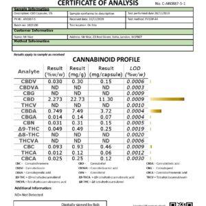 Mr Nice 5% 500mg CBD Gel Capsules