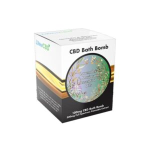 LVWell CBD 100mg CBD Bath Bomb – Lavender and Marjoram