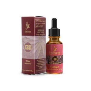 Immuno Leaf 1500mg CBD Premium Organic Hemp Seed Oil 30ML