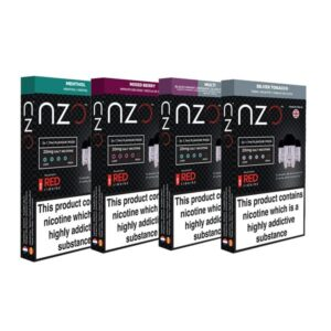 NZO 20mg Salt Cartridges with Red Liquids Nic Salt (50VG/50PG)