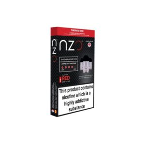 NZO 10mg Salt Cartridges with Red Liquids Nic Salt (50VG/50PG)