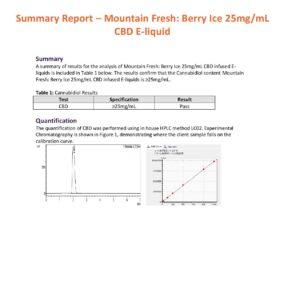 Mountain Fresh 3000mg CBD E-liquid 120ml (50VG/50PG)