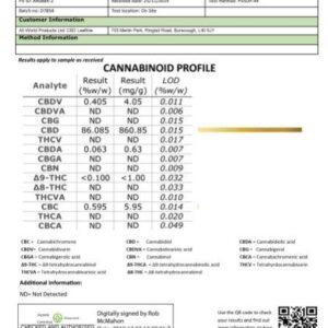 CBD Leafline 1000mg CBD Crumble (86%) Gelato 1g
