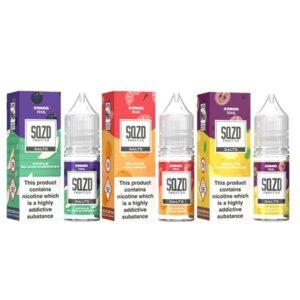 20mg Sqzd Flavoured Nic Salts 10ml (50VG/50PG)