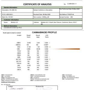 Beliebis UK 500mg CBD Full Spectrum CBD Oil 10ml