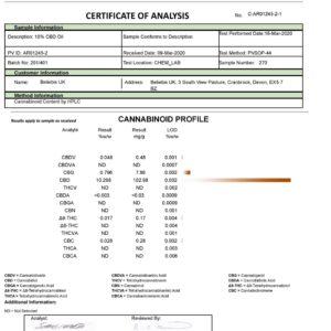Beliebis UK 1000mg CBD Full Spectrum CBD Oil 10ml