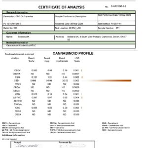 Beliebis 600mg CBD Oil Capsules – 30 Caps