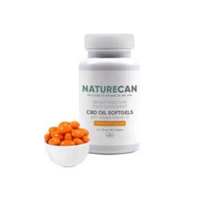 Naturecan 10mg CBD Oil Softgels with Vitamin C – 30 Capsules