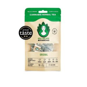 Body and Mind Botanicals 400mg CBD Cannabis Herbal Tea Bags – Original