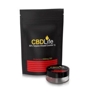 CBDLife 800mg CBD Terpene Infused Broad Spectrum Crumble 1g