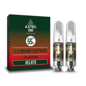 Aztec CBD 2 x 1000mg Cartridge Kit – 1ml