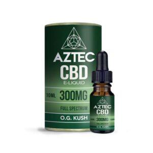 Aztec CBD 300mg CBD Vaping Liquid 10ml (50PG/50VG)