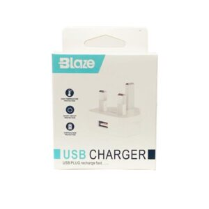 Blaze iPhone USB Wall Plug Charger – Boxed