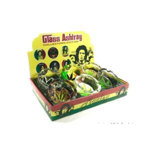 6 x Bob Marley leaf Glass Ash Tray – ASH001