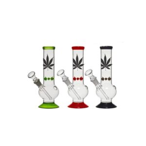 12 x 25cm Small Lead Design Glass Bong – GB42