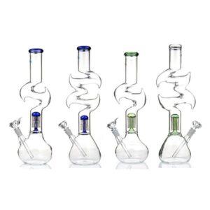 16″ Zig Zag Percolator Glass Bong GWP-76 (GS0906)