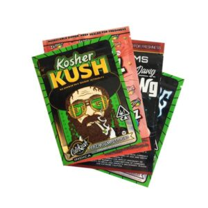 Custom Printed Mylar Zip Baggies 3.5g