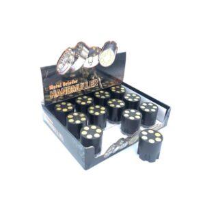 12 x 3 Parts Handmuller Black Bullet Metal 40mm Grinder – HX240B