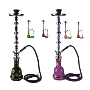 Large 1 Hose Shisha Hookah – Assorted Colours