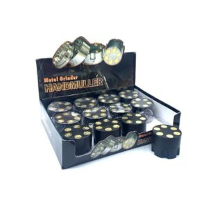 12 x 3 Parts Handmuller Big Bullet Black Metal 50mm Grinder – HX239B