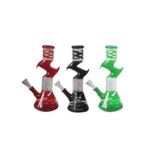 12″ Zig Zag Mix Colour Percolator Glass Bong – GB-17