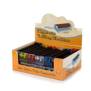 12 x Plastic Multi Colour King Size Rolling Machine – R001